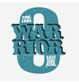 Warrior Athletics print vector image