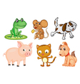 Differrent kinds of land animals vector image