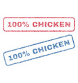 100 percent chicken textile stamps vector image