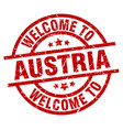 welcome to austria red stamp vector image