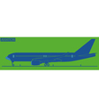 Silhouette of plane vector image vector image