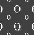number zero icon sign Seamless pattern on a gray vector image