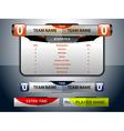 scoreboard game sport vector image