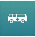 ambulance flat icon vector image
