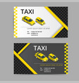 business card design in black white and yellow vector image