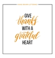 Give Thanks text isolated on white background vector image