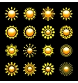 Glossy Sun Icons Set vector image
