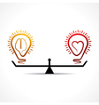 Heart and brain equality concept vector image