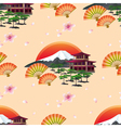 Japanese abstract background with fans and vector image