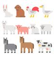 Flat design farm animal set vector image