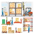 Logistic and delivery service set vector image