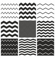 tile chevron pattern set with black zig zag vector image