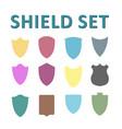 colorful shields set vector image