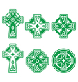 Irish Scottish Celtic green cross on white vector image vector image