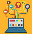 Network and Responsive Adaptive Web Design with vector image