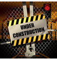 Sign under construction vector image vector image