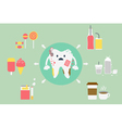 set of problems with teeth vector image