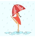 under the rain vector image