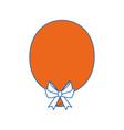 balloon bow globe vector image
