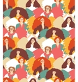 Crowd inspirational muses woman with wings vector image
