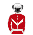 Hand drawn anthropomorphic dog shirt print kids vector image