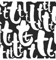 pattern with calligraphy letters t vector image