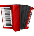 red accordion isolated on white vector image