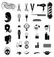 Set of salon shop items for beauty concept vector image