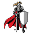 standing knight mascot vector image
