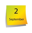 The second of September vector image