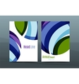 Abstract business annual report brochure cover vector image vector image