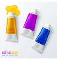 Set of colorful paint tubes vector image vector image