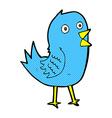 comic cartoon bluebird vector image