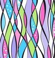 colorful waves and lines vector image