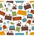 Interior furniture seamless pattern background vector image