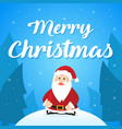 merry christmas with santa greeting card vector image