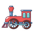 old train icon cartoon style vector image