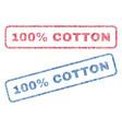 100 percent cotton textile stamps vector image
