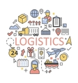Shipping and Logistics Icons Set Delivery Service vector image