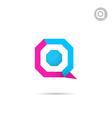 Q letter logo template vector image