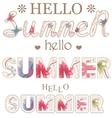 Hello summer vintage words vector image vector image