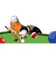 Cartoon snooker vector image vector image