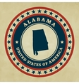 Vintage label Alabama vector image