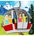 cable car or booth carrying passengers vector image