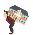 Man carrying house vector image vector image