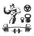 Elements for vintage fitness and gym labels vector image