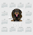 calendar 2018 year german week starting on monday vector image