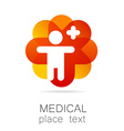 medical cross template logo vector image