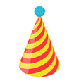 party hat icon isometric 3d style vector image