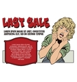 People in retro style The girl invites to sale vector image